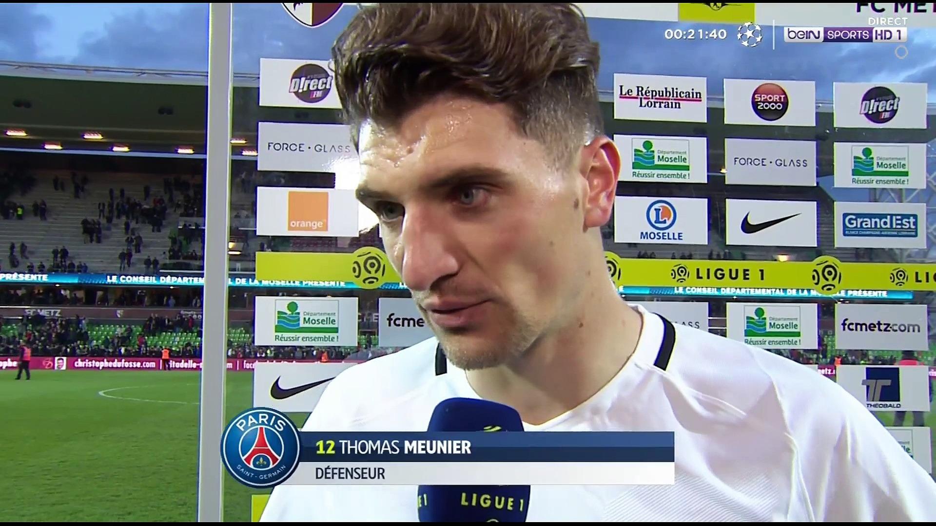 Thomas Meunier réaction après match
