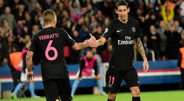 PSG/Amiens - Verratti et Di Maria sont sortis avec une douleur à la cuisse, indique Goal