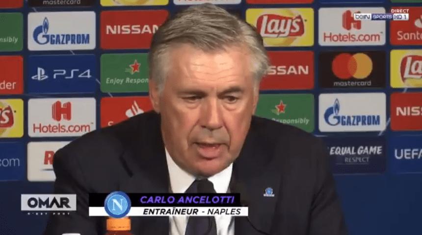 """PSG/Naples - Ancelotti """"Je suis satisfait et déçu...Ils ont tellement de qualité"""""""