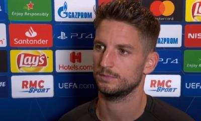 """PSG/Naples - Mertens """"nous devons relever la tête et penser au match retour à la maison"""""""