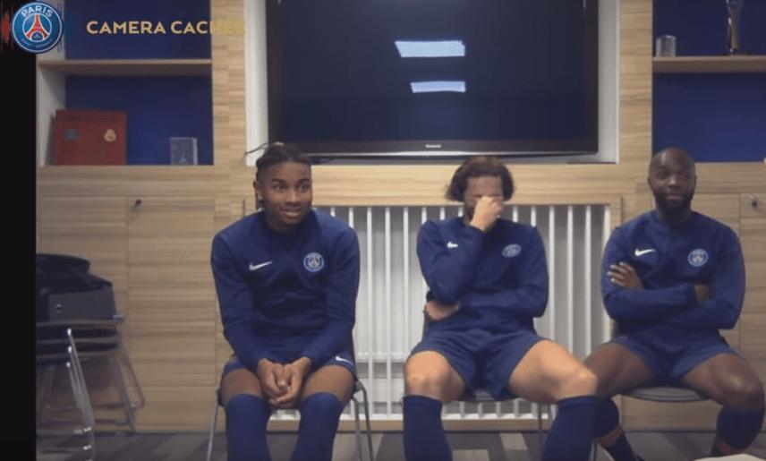 Les joueurs du PSG piégés dans une caméra cachée avec de fausses nouvelles règles dans le football