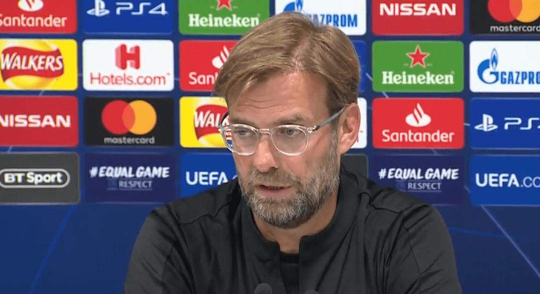 """PSG/Liverpool - Klopp """"C'est toujours quelque chose de compliqué de venir à Paris et d'obtenir un résultat mais essayons."""""""
