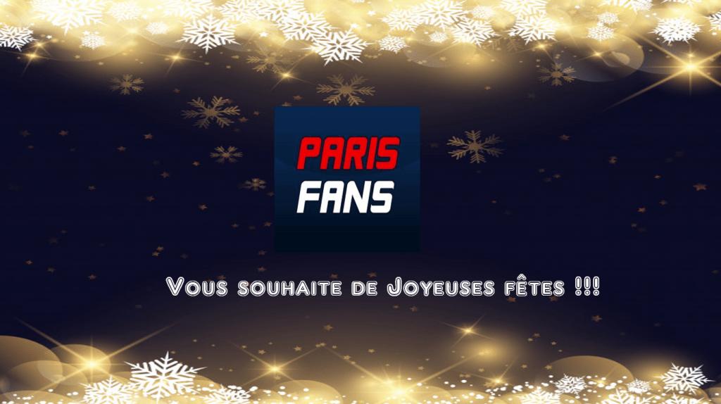 Parisfans vous souhaite un Joyeux Noël 2019 !