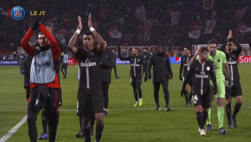 Les images du PSG ce mercredi : célébrations de la qualification en 8e de finale de Ligue des Champions