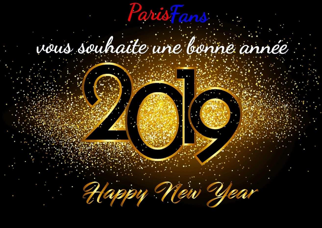 Parisfans Vous Souhaite Une Bonne Annee 2019