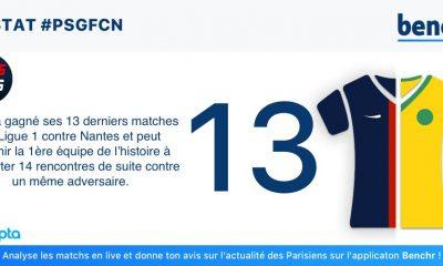 PSG/Nantes - La statistique de Benchr : Paris peut s'offrir un record embêtant pour les Nantais