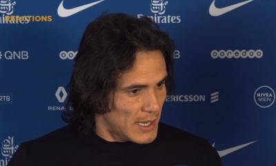 """PSG/Rennes - Edinson Cavani """"Une belle victoire...C'était plus simple après la pause"""""""
