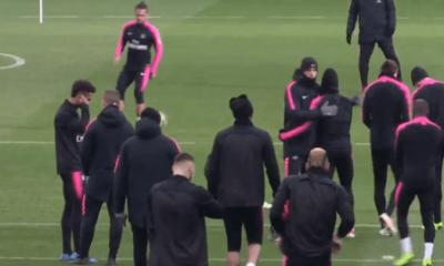 Pontivy/PSG - Déjà un joli groupe à l'entraînement des Parisiens pour préparer le match