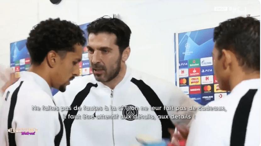 Les consignes de Buffon à Marquinhos et Thiago Silva avant d'affronter Manchester United