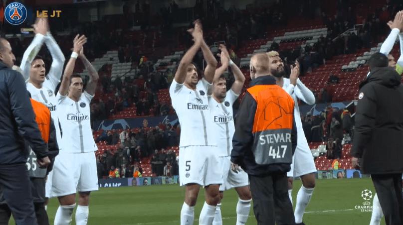 Les images du PSG ce mercredi : célébrations de la victoire contre Manchester United