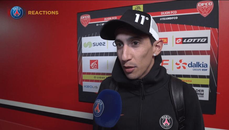 """Dijon/PSG - Di Maria """"Important de retrouver la victoire après la défaite contre Manchester"""""""