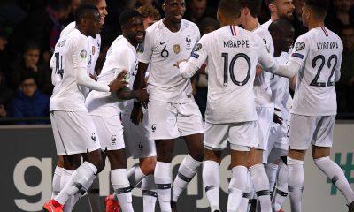 Célébration but équipe de France