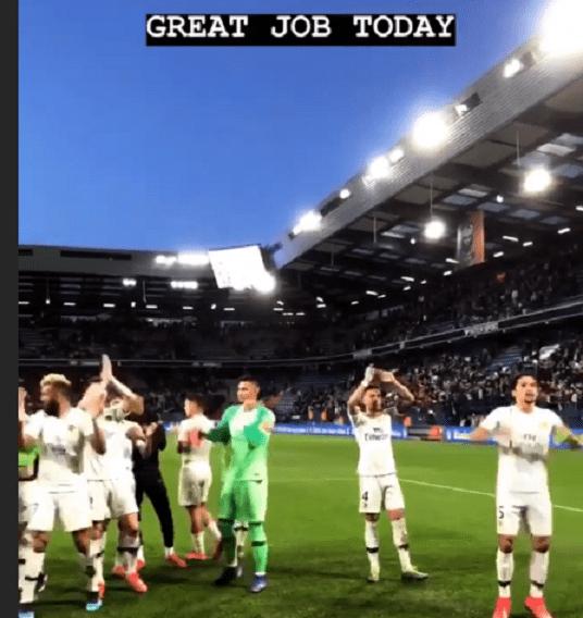 Les images du PSG ce samedi : célébrations de la victoire à Caen !