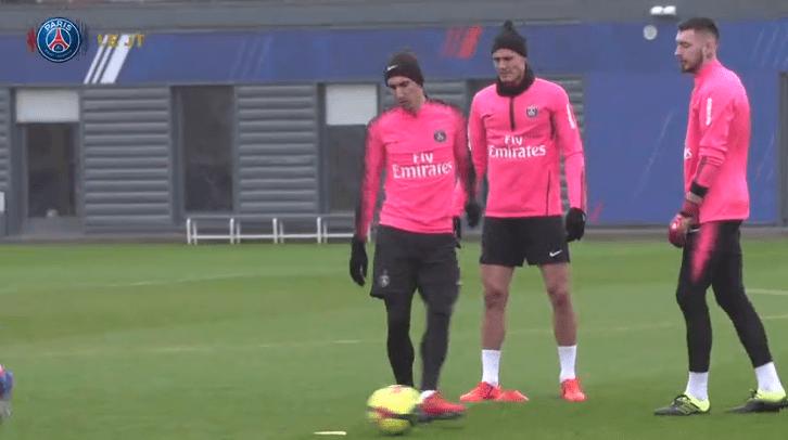 Les images du PSG ce jeudi : sélections en Equipe de France et entraînement avec Cavani