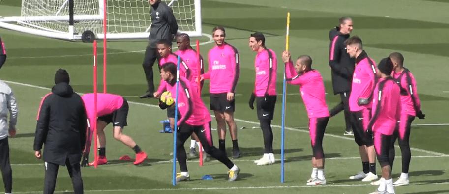 Lille/PSG - Cavani et Marquinhos absents de l'entraînement samedi, Di Maria présent