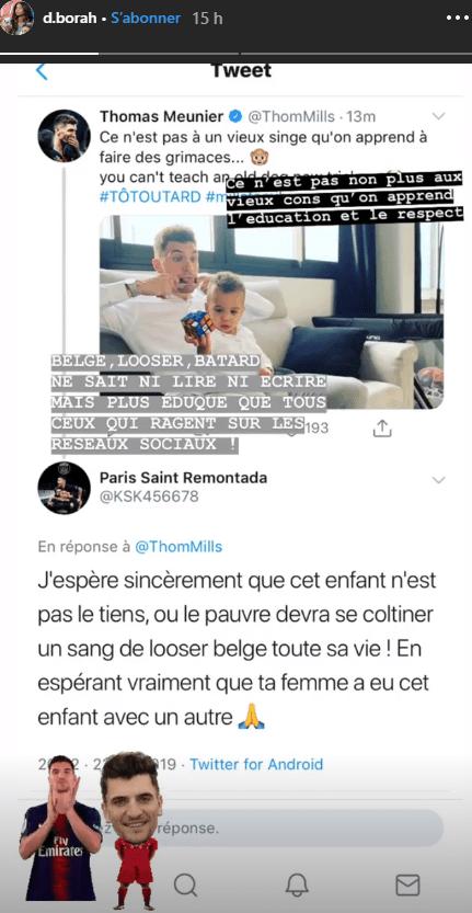 La compagne de Thomas Meunier s'agace des commentaires haineux sur les réseaux sociaux