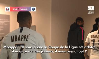 """Lille/PSG - Mbappé """"Il nous prend la Coupe de la Ligue cet arbitre, il nous prend des joueurs..."""""""