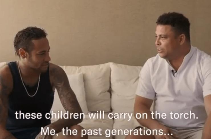 """Ronaldo déclare à Neymar """"Tu es extraordinaire, les enfants t'adorent, tu poursuis notre chemin"""""""