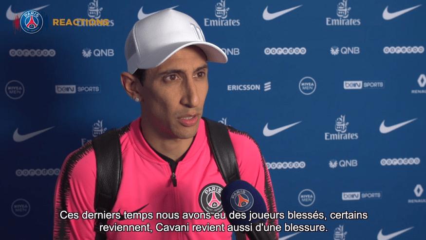 """PSG/Nice - Di Maria """"Le caractère est présent, nous avons réussi à égaliser"""""""