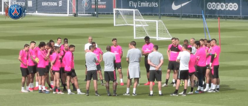 Reims/PSG - Un dernier entraînement sans Neymar ni Rabiot, avec Thiago Silva