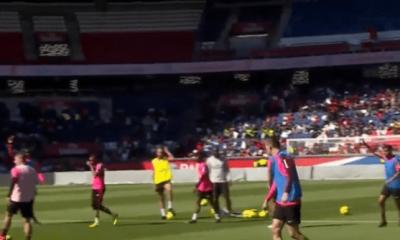 Groupe quasi-complet à l'entraînement du PSG ce mercredi, Thiago Silva a travaillé en individuel