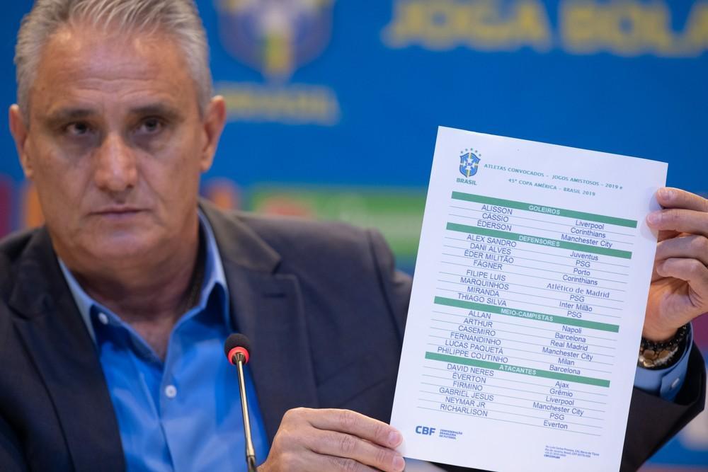 Tite dévoile sélection pour la Copa America