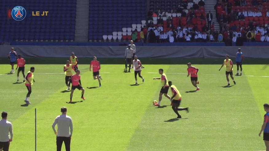 Les images du PSG ce mardi : sélections et entraînement demain au Parc des Princes