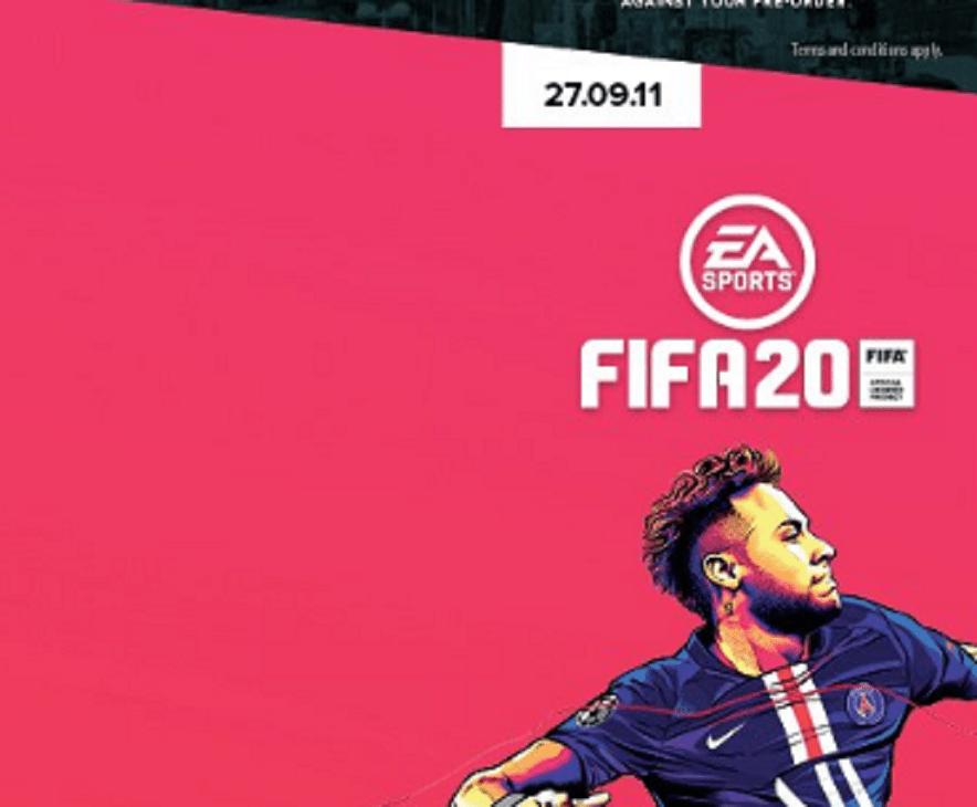 La jaquette de FIFA 20 avec Neymar dévoilée par erreur, le maillot domicile du PSG confirmé