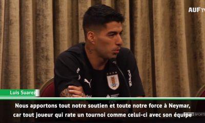 """Suarez: """"Neymar ? Le Brésil a beaucoup perdu parce qu'il est l'un des meilleurs joueurs du monde"""""""