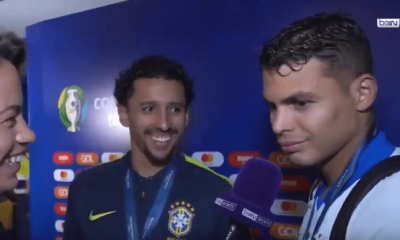 Thiago Silva et Marquinhos expriment leur joie et évoquent leur complicité après la victoire en Copa America