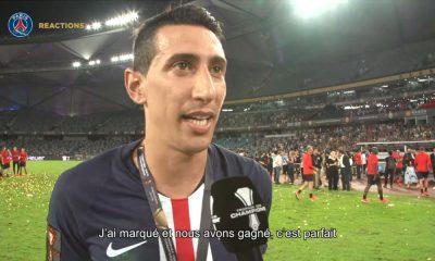"""TDC - Di Maria: """"Je suis très heureux, très content de gagner encore un titre avec ce club"""""""