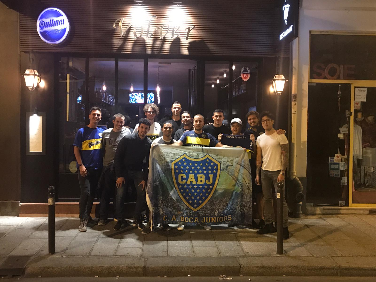 Paredes a regardé la Copa Libertadores avec les fans français du Boca Juniors