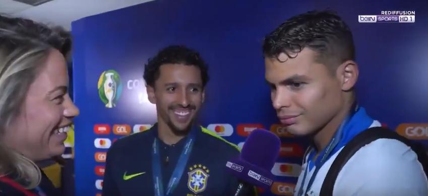 """Thiago Silva """"Gagner cette Copa avec Marquinhos, ça été fantastique"""""""