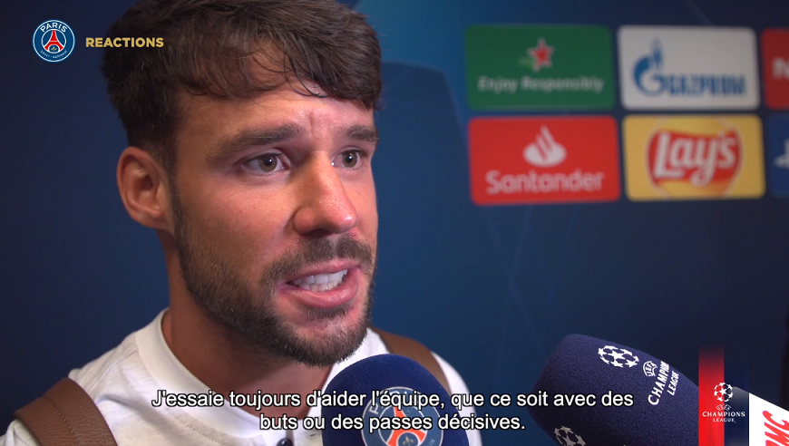 "PSG/Real Madrid - Bernat ""On a montré que l'on savait jouer ensemble."""