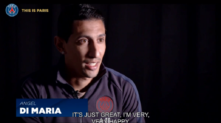 """Di Maria """"J'espère pouvoir aller au bout de ce contrat...J'espère que cette année sera encore meilleure."""""""