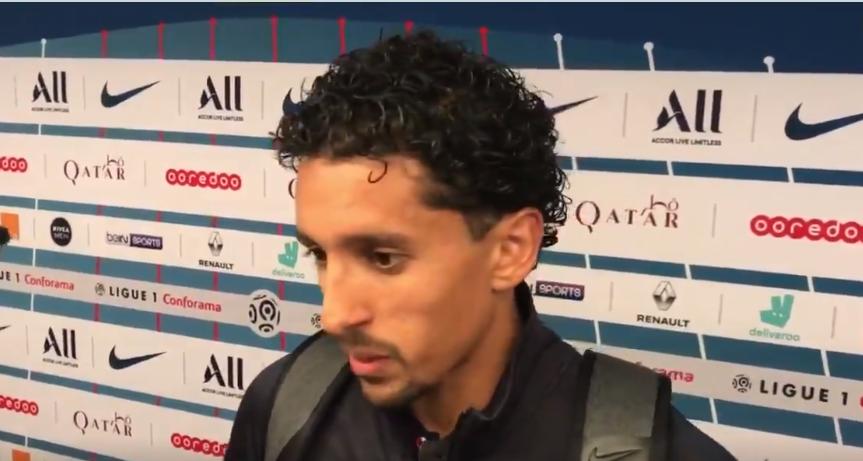 """PSG/Reims - Marquinhos """"ce n'est pas à cause des absents qu'on a perdu...On doit garder notre niveau toute la saison"""""""