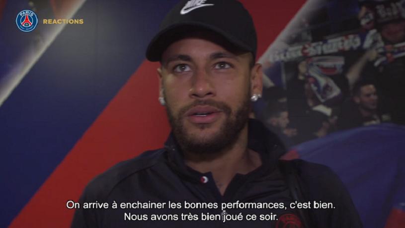"""Neymar """"On a réalisé un match consistant...Je suis très heureux de débuter cette saison avec deux buts importants"""""""