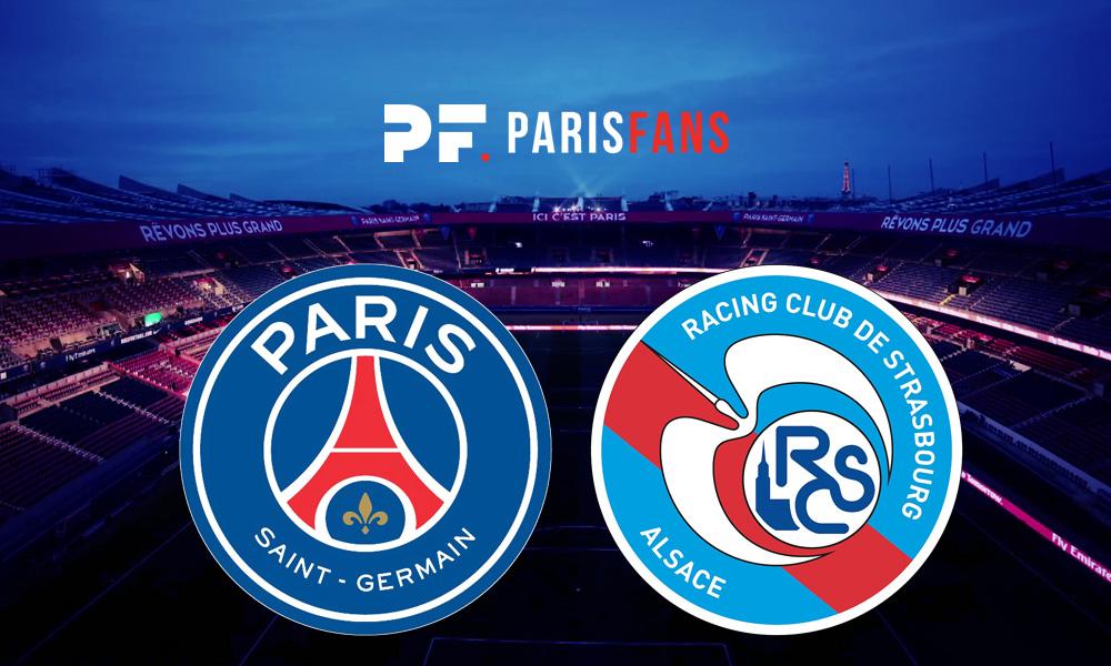 PSG/Strasbourg - Le groupe strasbourgeois : avec Liénard