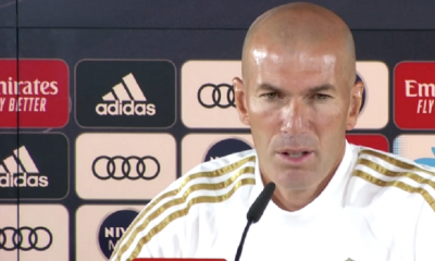 "Zidane ""On a l'impression de faire un mauvais match contre le PSG parce qu'on perd 3-0"""