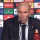"""PSG/Real Madrid - Zidane """"Le PSG a mérité de gagner son match. Ils ont été très bons à tous les niveaux"""""""