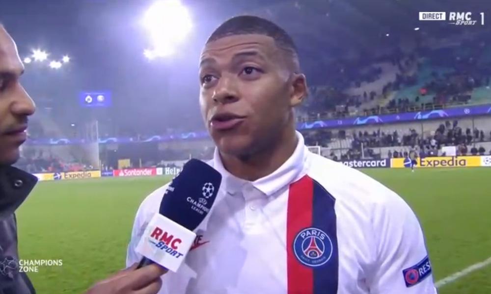 Bruges/PSG - Mbappé «je voulais montrer qu'il est difficile de se passer de moi.»