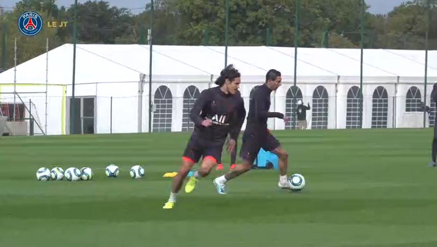 Les images du PSG ce mercredi : entraînement avec Cavani, Thiago Silva rencontre son fan de Glastonbury