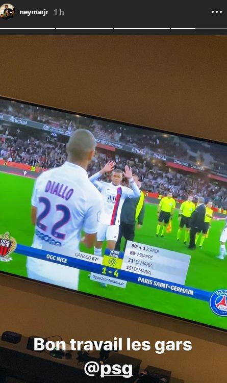 Les images du PSG ce vendredi : célébrations de la victoire à Nice, avec messages des absents dont Neymar