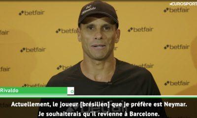 """Rivaldo: Neymar? """"Le bon choix, c'est celui que Ronaldinho a fait, quittant le PSG pour aller à Barcelone"""""""