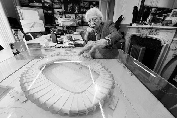 Roger Taillibert, architecte du Parc des Princes, est décédé et le PSG présente ses condoléances