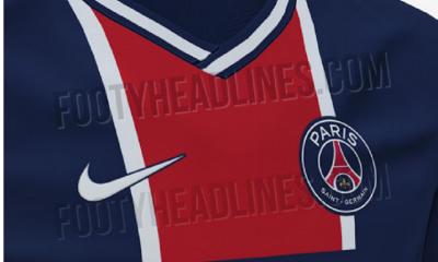 Le maillot domicile du PSG pour la saison 2020-2021 inspiré du style Hechter, annonce Footy Headlines