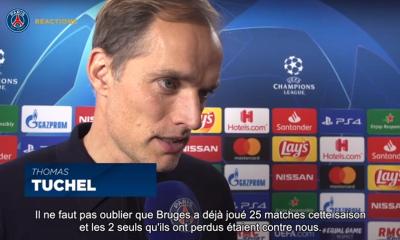 """PSG/Bruges - Tuchel """"Il y a de la fatigue, on perd des ballons. Je n'ai cependant pas d'inquiétude sur la mentalité et la qualité de l'équipe"""""""