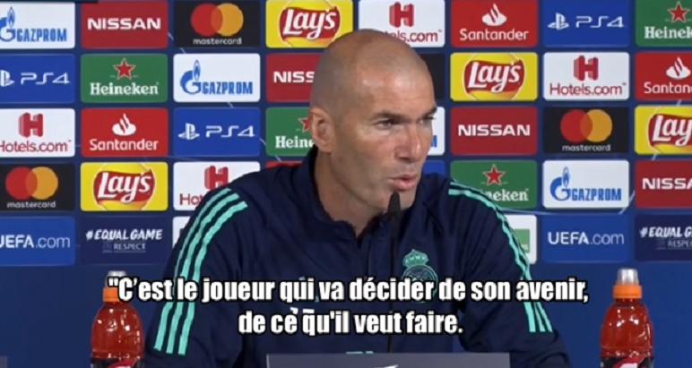 """Zidane """"Mbappé décidera de son avenir...Il a toujours dit que son rêve était de jouer au Real Madrid"""""""