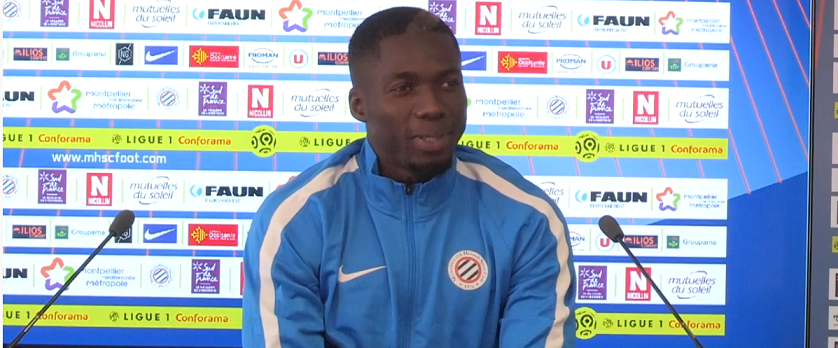 """Montpellier/PSG - Oyongo """"gagner contre les grosses équipes c'est une question de concentration et d'envie"""""""