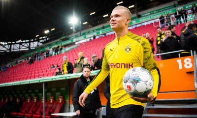 Dortmund s'impose à Augsbourg avec un scénario fou et un triplé de Håland
